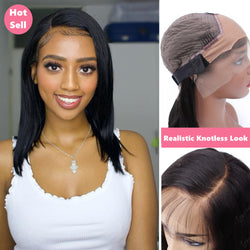 Lilian Pre-Made Fake Scalp Lace Frontal Bob Wig | Full Texture