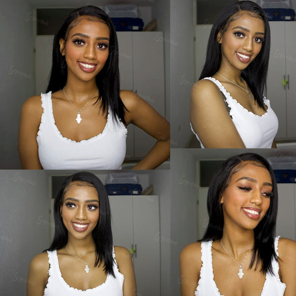 Lilian Pre-Made Fake Scalp Lace Frontal Bob Wig - sogoodhair