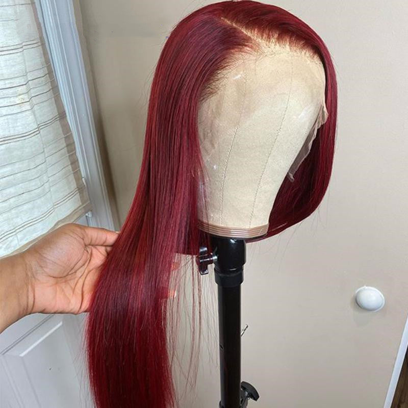 99J Burgundy Closure Wig Straight/Body Wave/Curly| Flash Sale