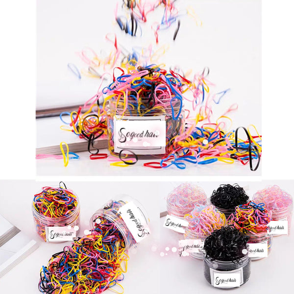 Multicolor Rubber Bands | 500 PCS - sogoodhair