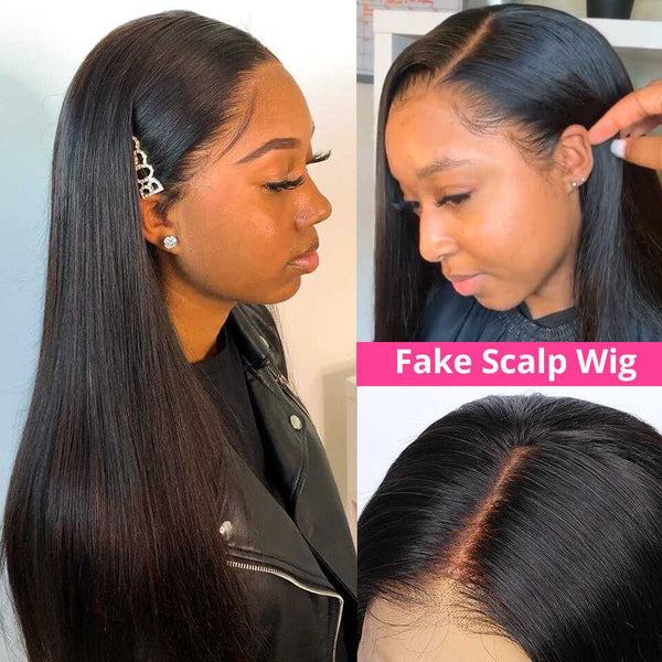 Muse Straight Pre-Made 13x6 Fake Scalp Lace Frontal Wig