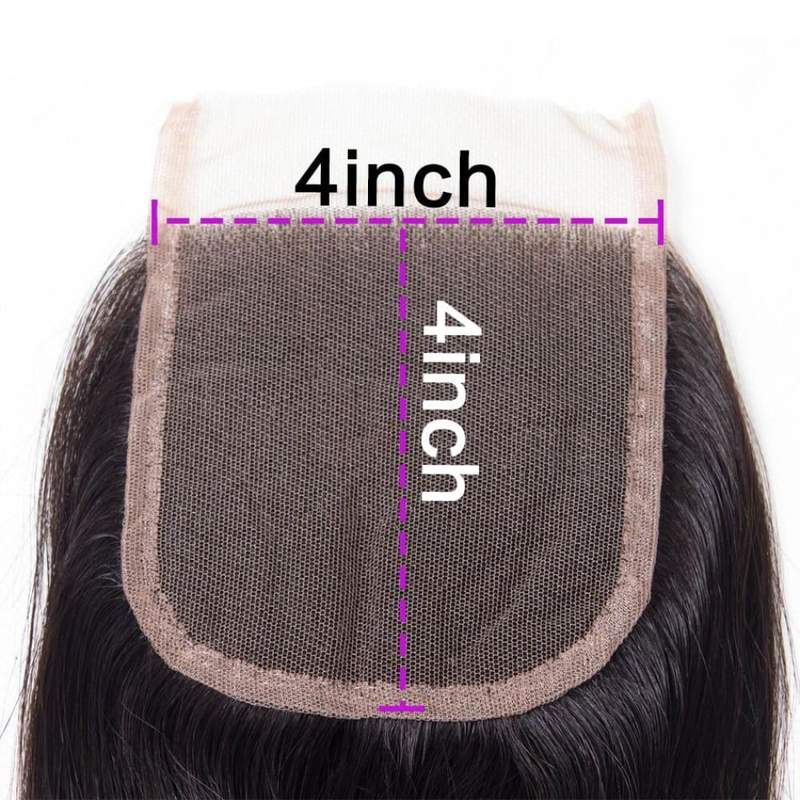 "4""x4"" Straight HD Swiss Lace Closure 