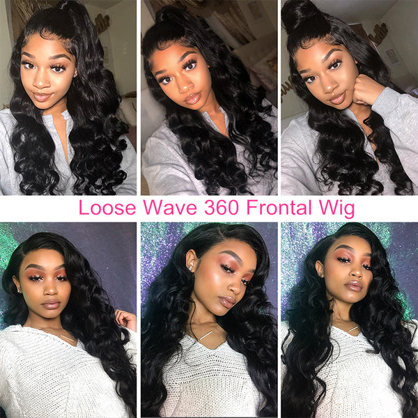 Loose Wave 360 Frontal Wig| Pre-Plucked & Bleached