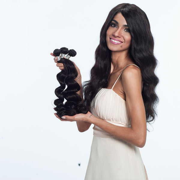 3 Brazilian Virgin Human Hair Bundles Loose Wave Natural Color 10-30inch SoGoodHair--SG2171 - sogoodhair