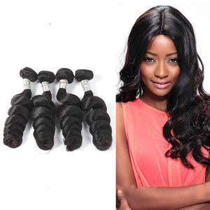 3 Brazilian Virgin Human Hair Bundles Tight Loose Wave Natural Color SoGoodHair--SG2181 - sogoodhair