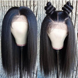Lemon Kinky Straight 13x6 Pre-Made Fake Scalp Frontal Wig - sogoodhair