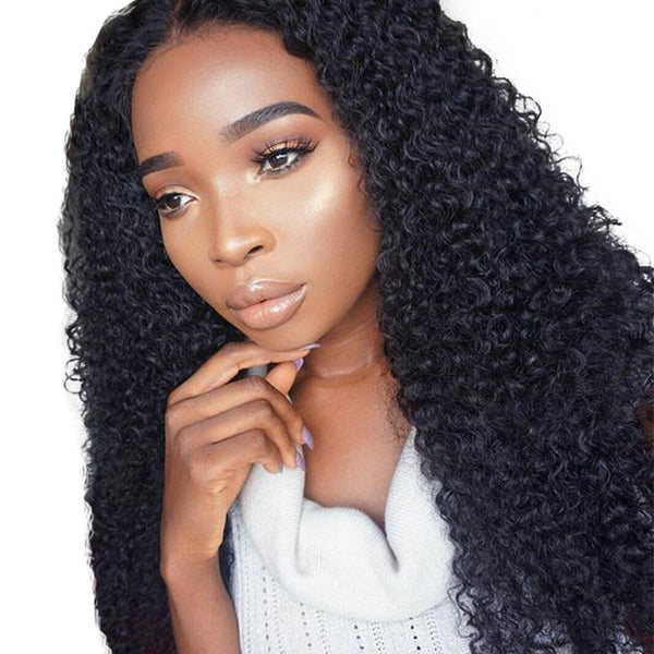 Brazilian Hair 13*6 Lace Front Wig Kinky Curly Natural Color Pre Plucked hairline SoGoodHair--SG6150 - sogoodhair