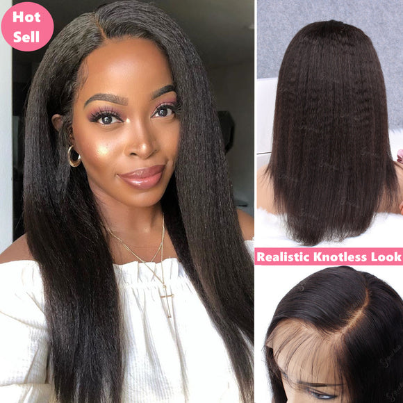 Lemon| Kinky Straight Full Lace Wig| Virgin Human Hair Pre-Plucked& Bleached