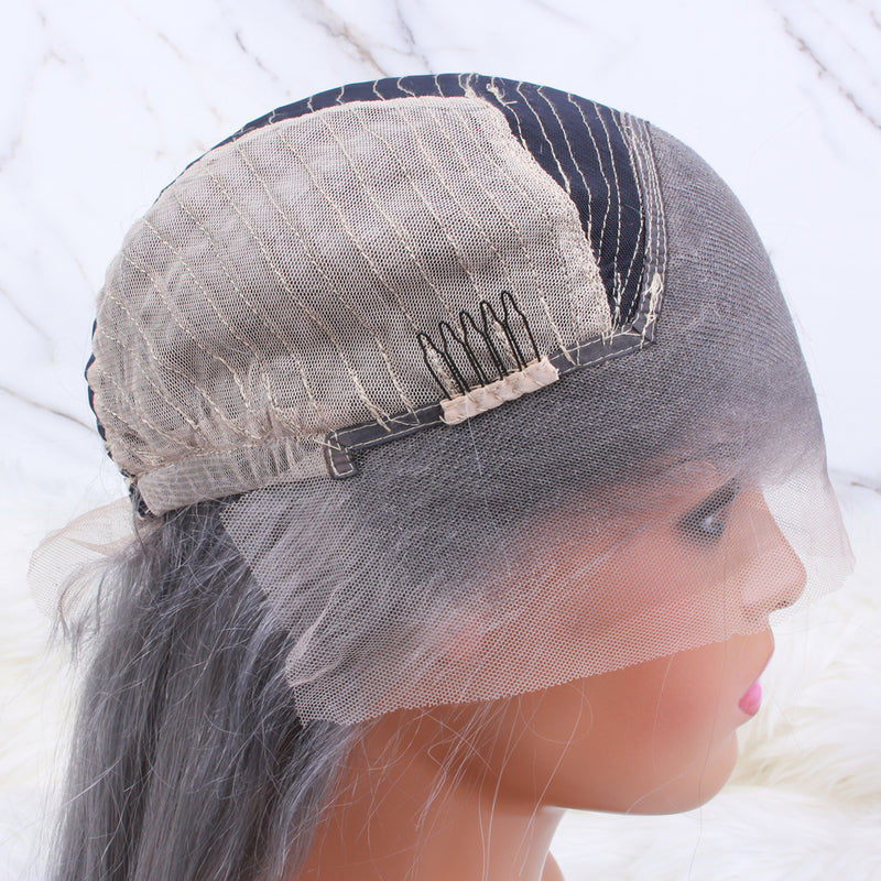 Silver Gray 13*4 Lace Front Wig - sogoodhair