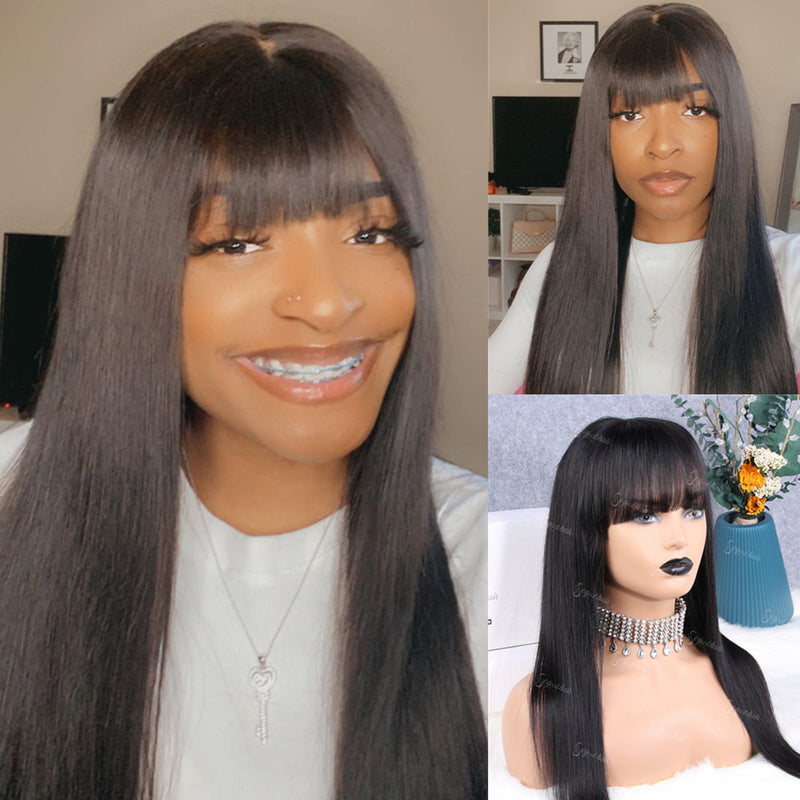 Jayda Straight With Bang |  Pre-Made 13x6 Fake Scalp Lace Frontal Wig - sogoodhair