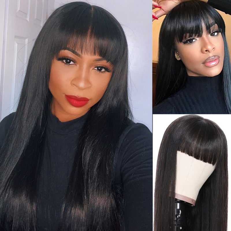 Jayda Straight With Bang | 13x6 Lace Frontal Wig - sogoodhair