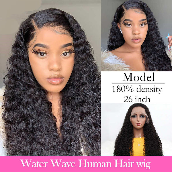 Eva Water Wave 13x6 Pre-Made Fake Scalp Lace Frontal Wig