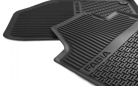 ŠKODA Rear Floor Mats (Rubber)