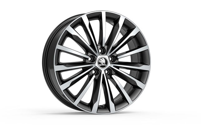 "ŠKODA Alloy Wheel TRINITY 18"" (Black Metallic)"