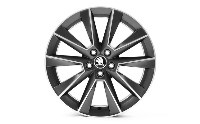 "ŠKODA 17"" SAVIO Matt Black Alloy Wheel"