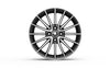 "Serpens -  16"" Alloy Wheel (Black & Chrome)"