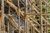 strong bamboo scaffolding in Asia