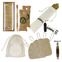 Load image into Gallery viewer, Gift pack of eco-friendly bamboo items for personal care