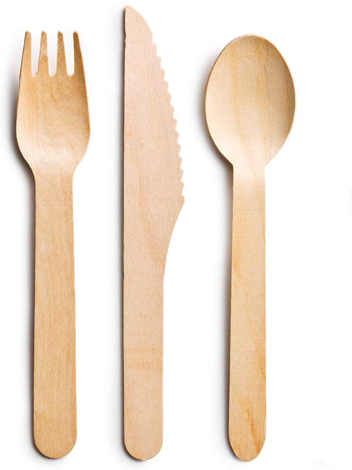 Eco Friendly Biodegradable Disposable Wooden Cutlery Set
