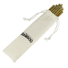 Load image into Gallery viewer, bamboo drinking straws in handy carry pouch