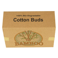 Load image into Gallery viewer, Simple cardboard packaging, reducing more waste with the eco-friendly bamboo cotton buds