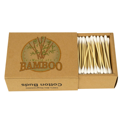 Bamboo cotton buds - 200 per pack