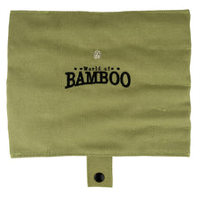 Load image into Gallery viewer, Natural sage pouch with World of Bamboo logo
