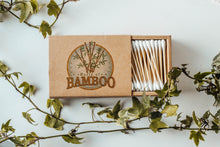 Load image into Gallery viewer, Bamboo cotton buds in eco friendly packaging