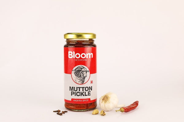 Bloom Boneless Andhra Mutton Pickle + Prawns Pickle (Pack Of 2 X 230g)