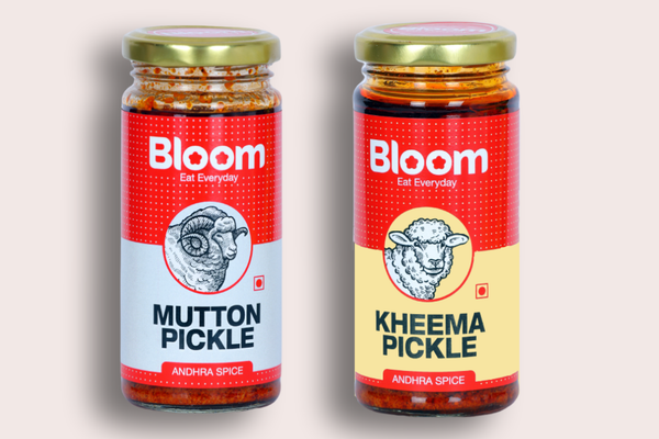 Bloom Boneless Andhra Mutton Pickle +  Andhra Keema pickle (Pack Of 2 X 230g)