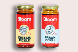 Bloom Boneless Andhra Keema + Andhra Prawns Pickle (Pack Of 2 X 230g)
