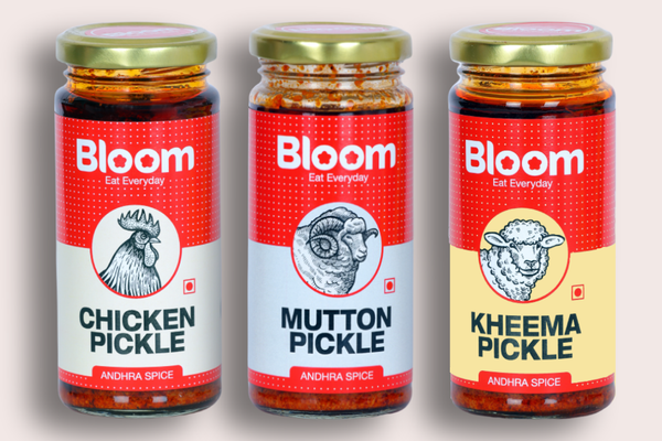 Boneless Andhra Chicken + Andhra Mutton + Keema Pickle (Pack of 3 X 230g)