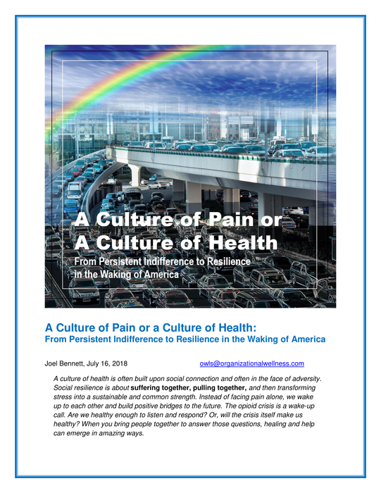 (Download) A Culture of Pain or a Culture of Health