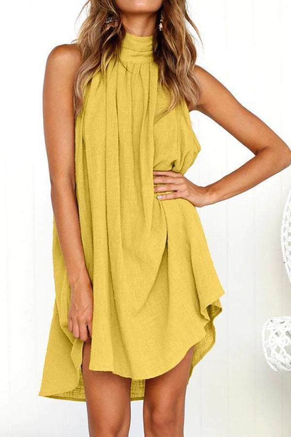 Women Sexy Strapless High Low Plus Size Loose Mini Casual Dress