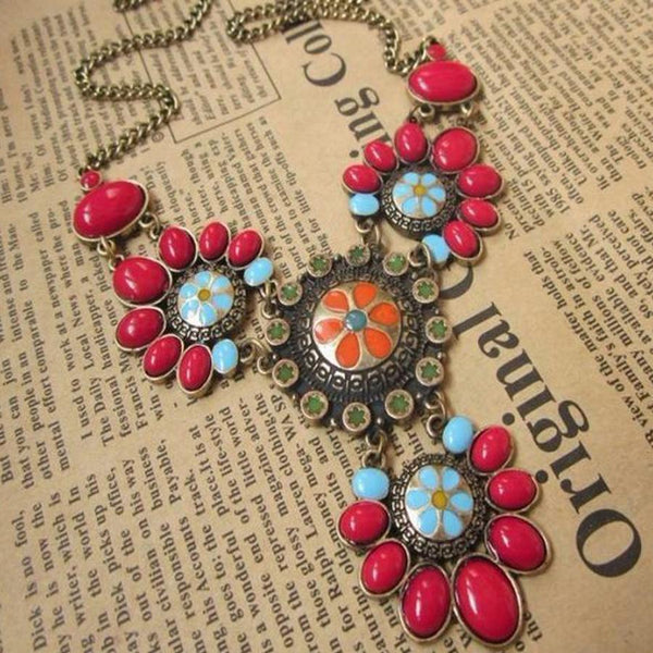 Retro Multi-Color Bohemia Necklace