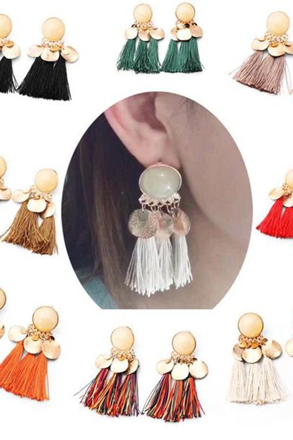 Tassel Earrings Bohemian Fashion Pop Multicolor Earrings