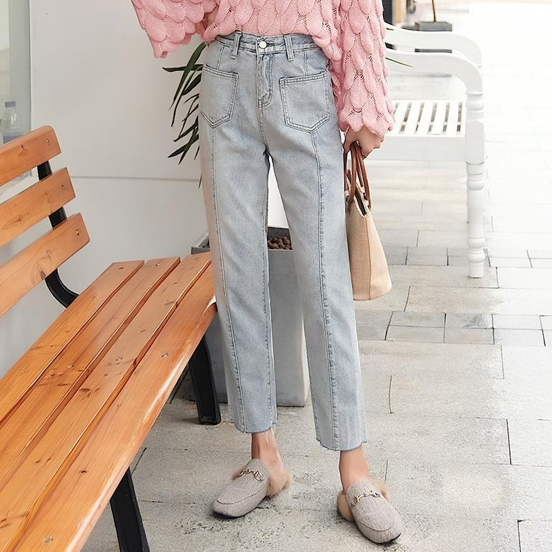 Fashion Slim Show   Thin  Elastic Loose Jeans Pencil   Pants