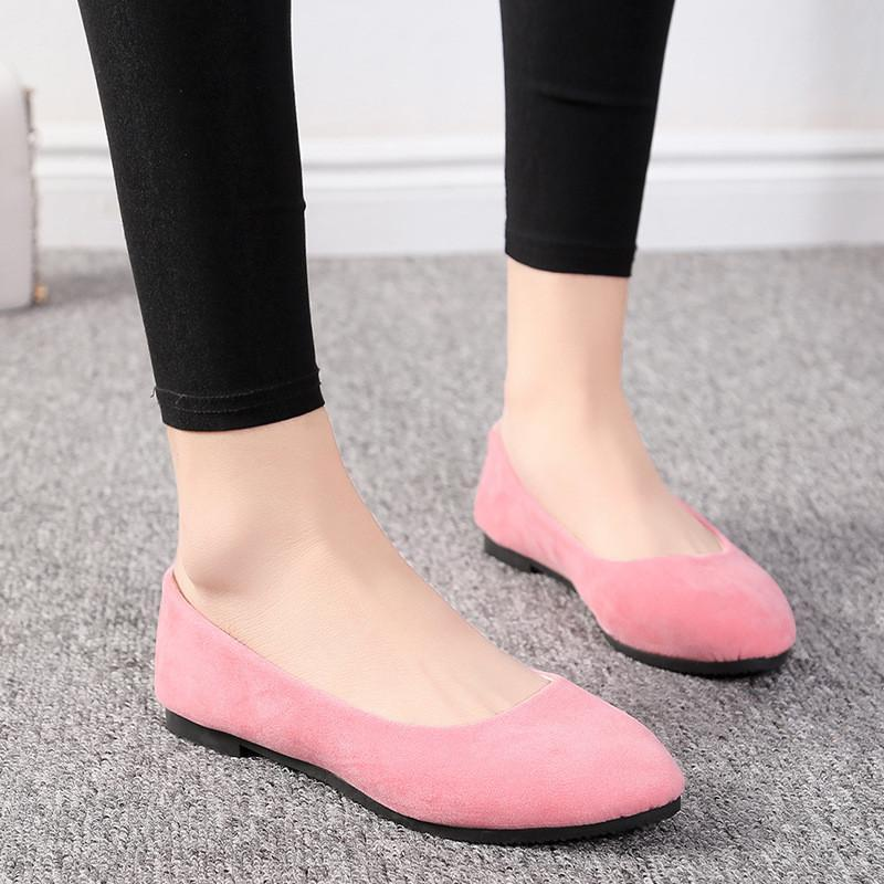 Flat Bottom Shallow Mouth Candy Color Women's Shoes
