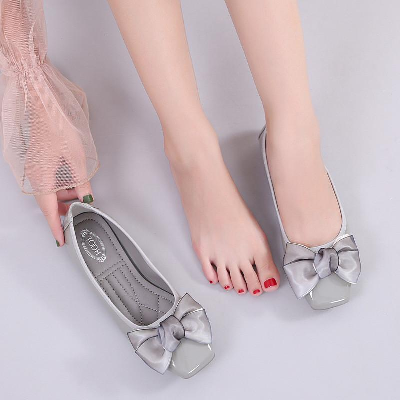 New Small Fresh   Bow Female Flat With Large Size Women's Shoes Flat Shoes