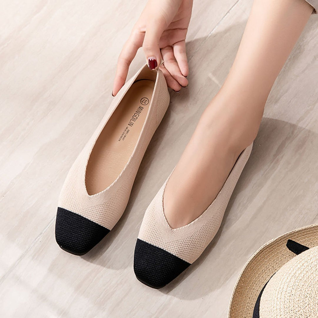 Breathable net flat bottom comfortable soft bottom shoes