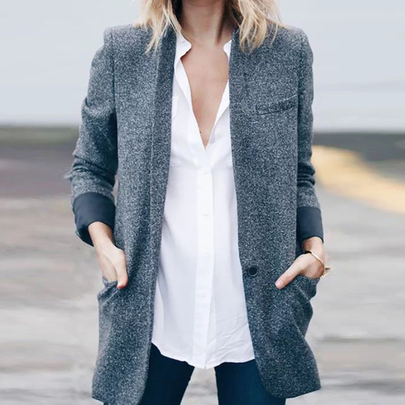 Women's casual solid color coat