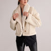 Fashion Coloring Turndown Collar Long Sleeve Jacket