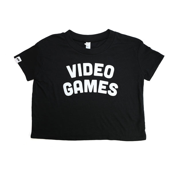 VIDEO GAMES Crop Top (Black)