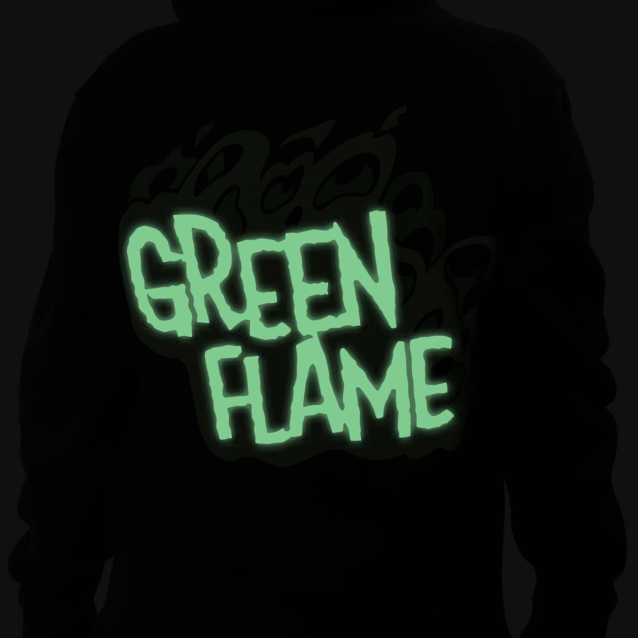 Green Flame Zip-Up Hoodie