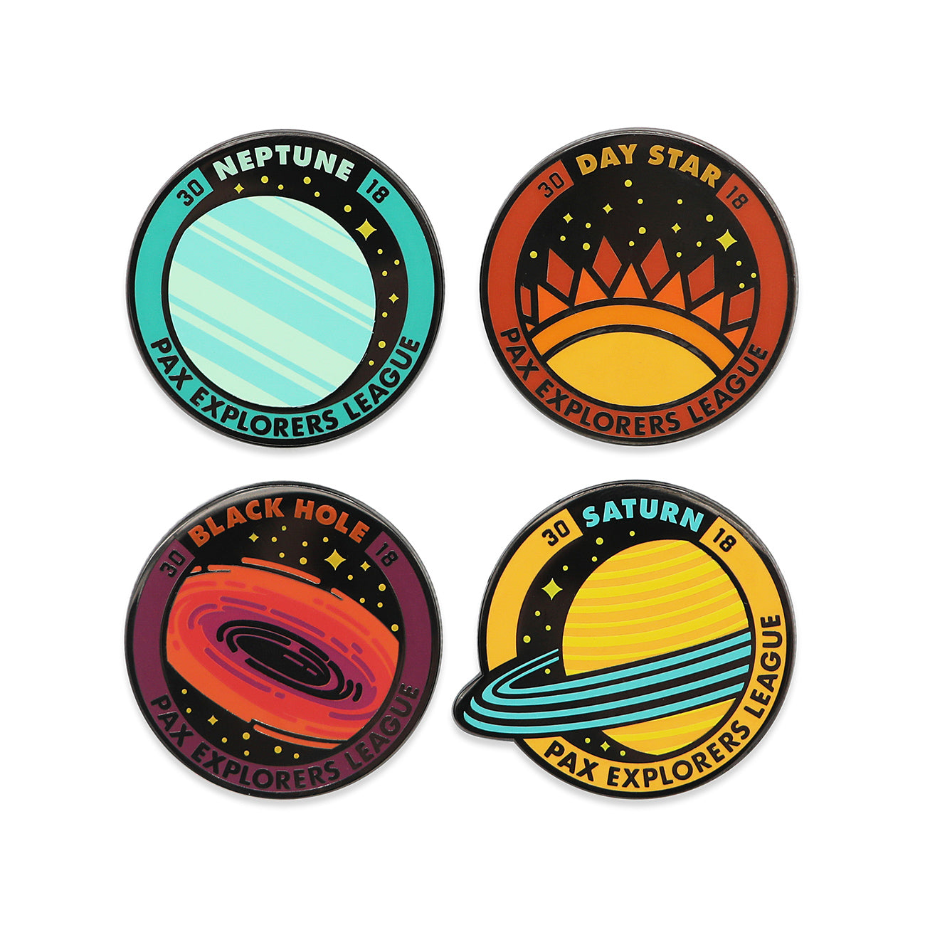PAX Explorers League Pin Set 2