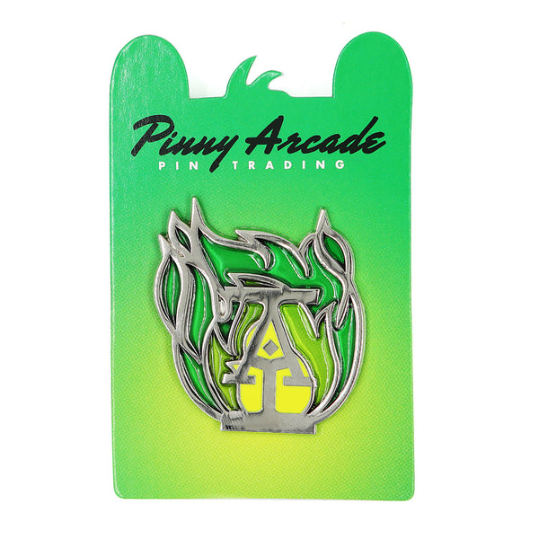 Green Flame Pin