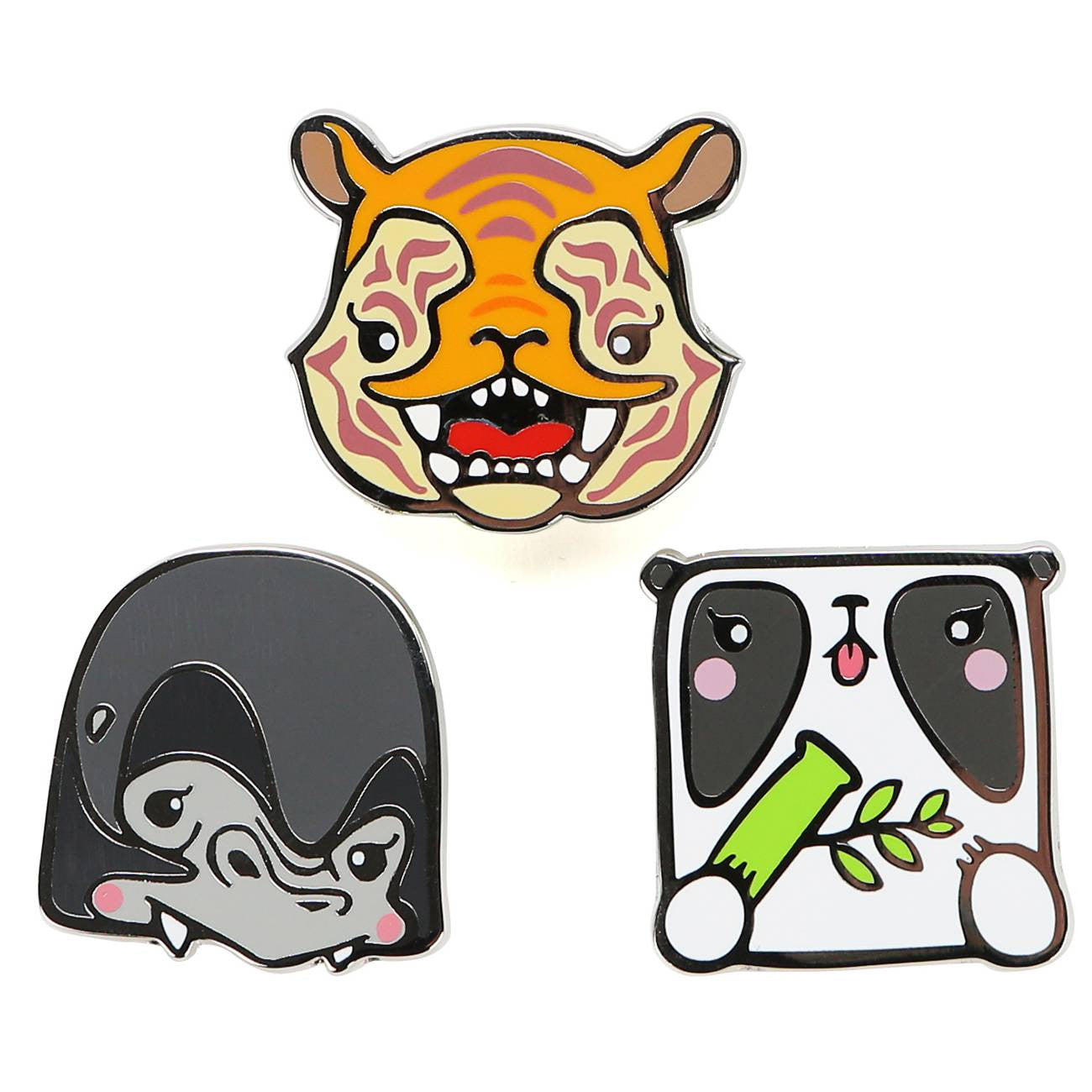 Enfu: Cute and Wild Pin Set
