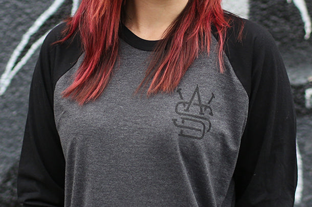 WASD Heather Black Raglan