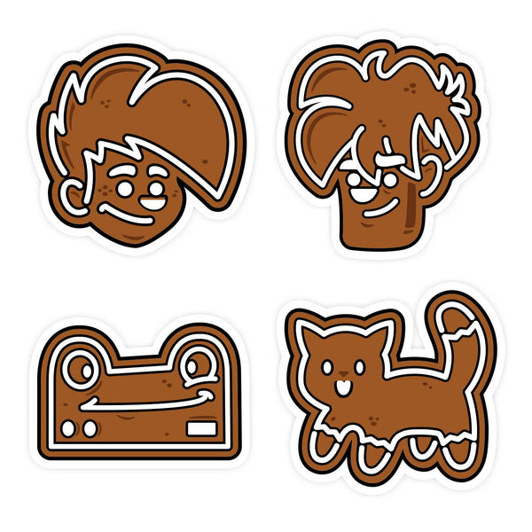 Holiday Cookie Sticker Set or K'thriss-Mas Sticker Set - Free with $35 Purchase