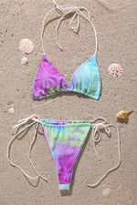 Tie Dye Two Piece Bikini Set with Cover up